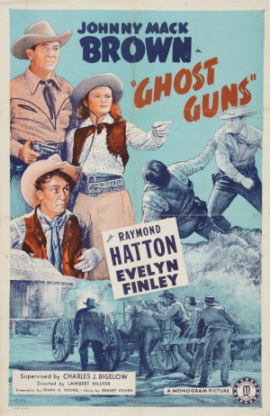 Poster for the movie ghost guns with Evelyn Finley