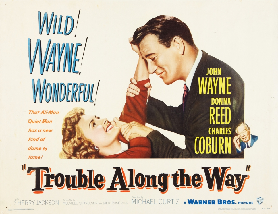 lobby card for Trouble Along The Way