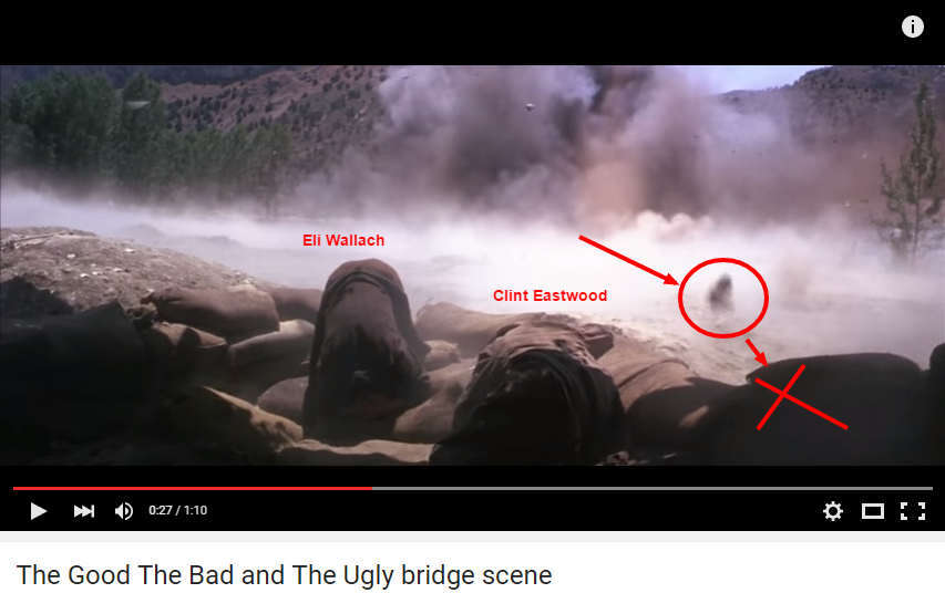 Good The Bad and The Ugly bridge scene