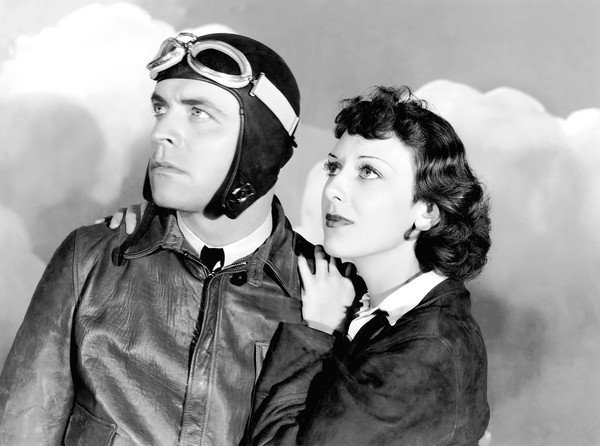 "Lyle Talbot and Ann Dvorak star in ""Murder in the Clouds"" in 1934."