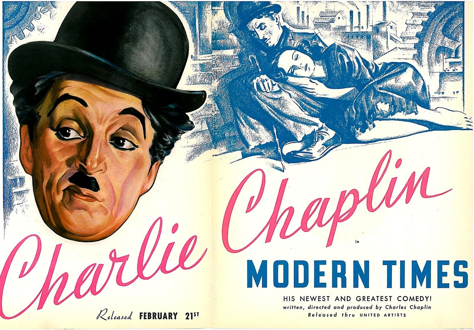 Charlie chaplin modern times watchfaces for smart watches.