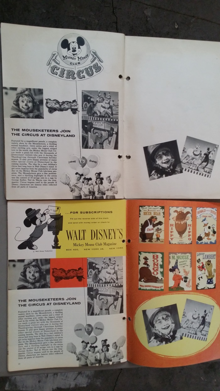 Mickey Mouse Club Magazine Last page