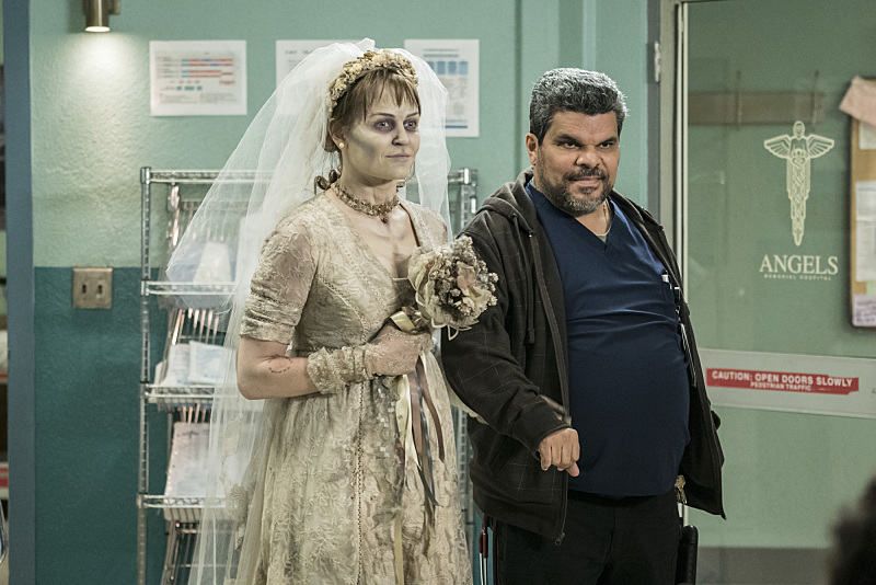 """Love Hurts"" -- Pictured: Luis Guzmán (Jesse Sallander). Christa must put aside her personal feelings for Grace and work with her to treat Brody, (Cameron Boyce), a patient who claims to have been abused at a camp for troubled teens. Also, Grace is surprised when Campbell asks her out, on CODE BLACK, Wednesday, Feb. 17 (10:00-11:00 PM, ET/PT) on the CBS Television Network. Photo: Sonja Flemming/CBS ©2016 CBS Broadcasting, Inc. All Rights Reserved."