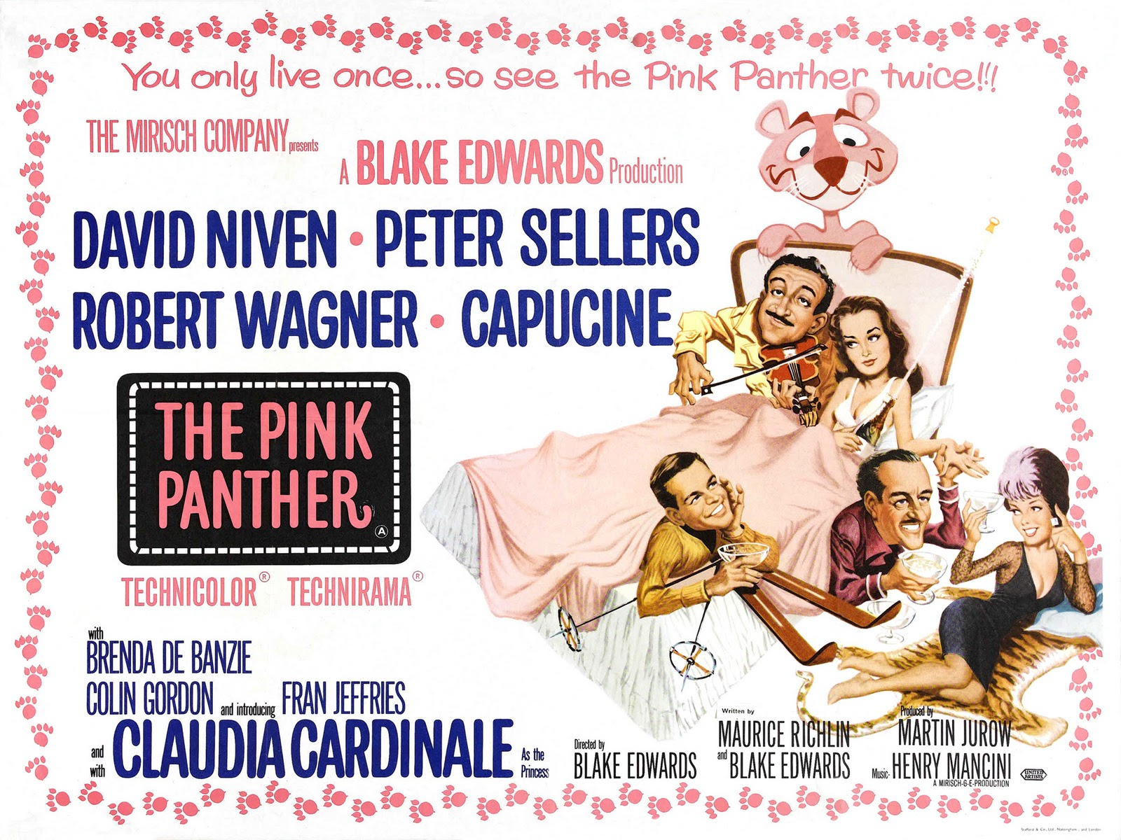 pink panther lobby card