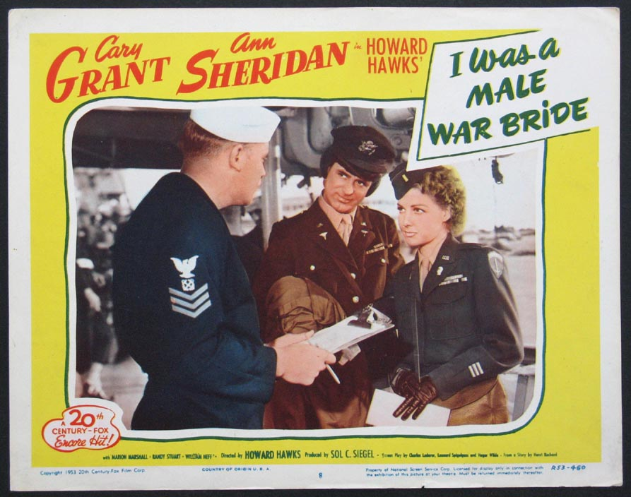 I Was A Male War Bride Lobby Card