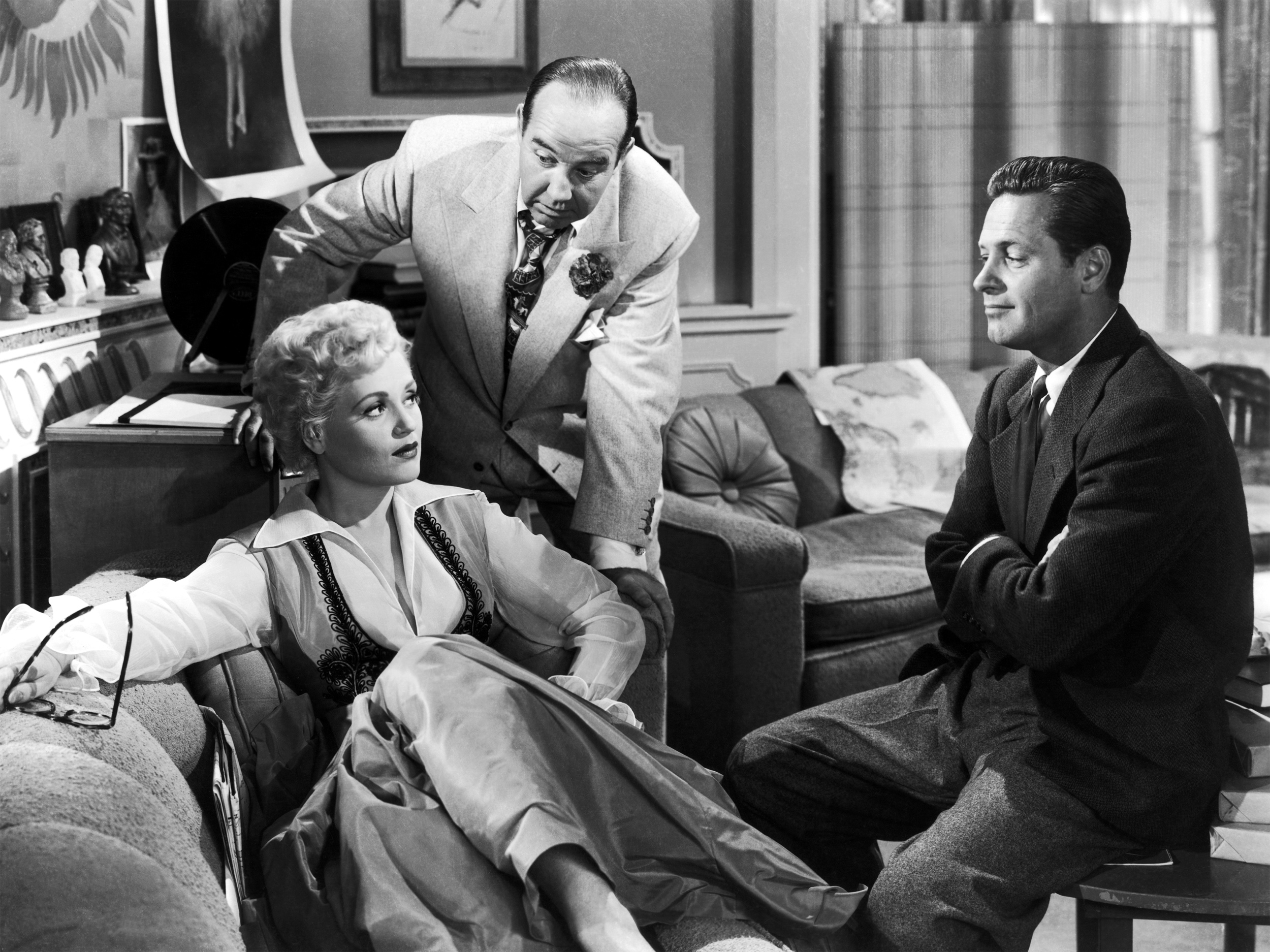 Judy Holliday Broderick Crawford William Holden in Born yesterday