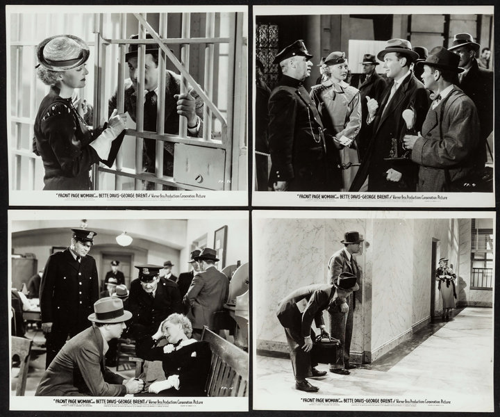 Lobby Cards for Front Page Woman